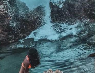 saint Barth natural pool by Julia Chubarova