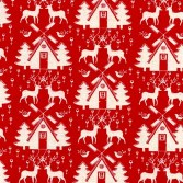 scandinavian linen look xmas design