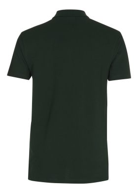 Bottle Green Stretch Polo ryg