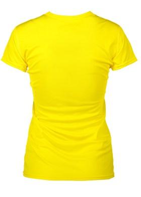 Foto-af-Woman-Active-T-shirt-gul-ryg-G11002