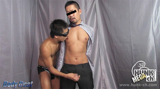 HUNK CHANNEL – BEAT-0005 二丁目の某有名ゲイバーのワイルド男前マスターが登場!!