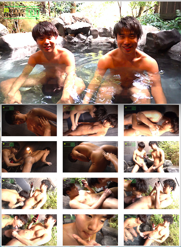 Men's Rush.TV – MR-KR1412 – リアル双子が露天風呂でしゃぶり合い!兄弟のザーメンをお口にドピュッ♪