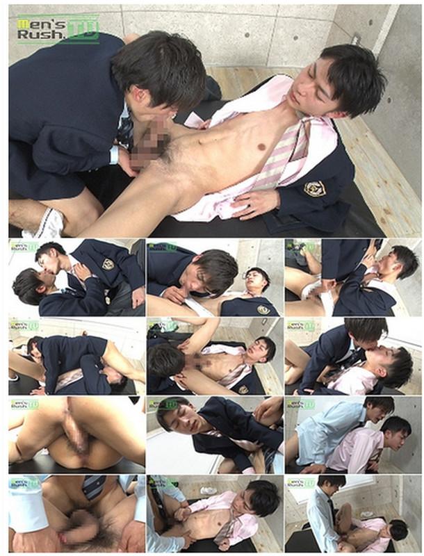 Men's Rush.TV – MR-KR1431 – 色白スリムな学生クンの生穴に巨根好青年のデカマラがズ