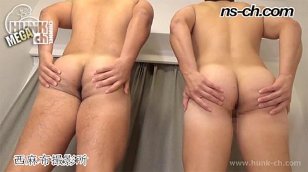 HUNK CHANNEL – NS-729 – 体育会選抜選手(175cm93kg19歳・174cm90kg18歳大学生)