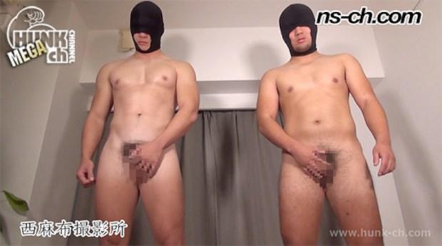 HUNK CHANNEL – NS-763 – 初登場!覆面野郎(186cm91kg19歳・173cm80kg19歳)