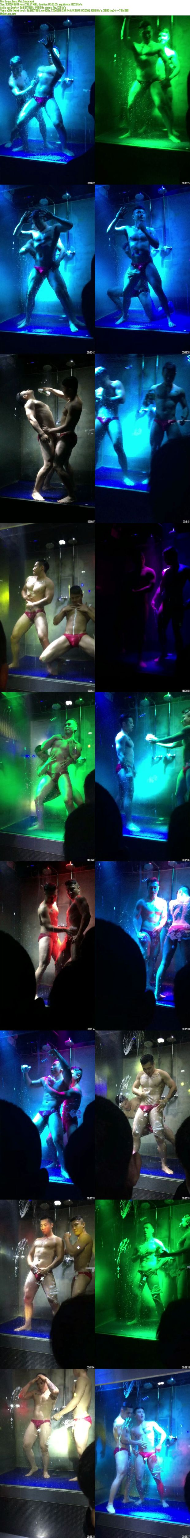 Chinese maleshow – Amateur Contribution – Go-go Boys Wet Dance 性感肌肉猛男水中熱舞