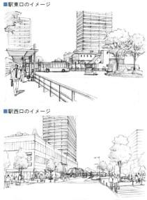 小川駅再開発イメージ2