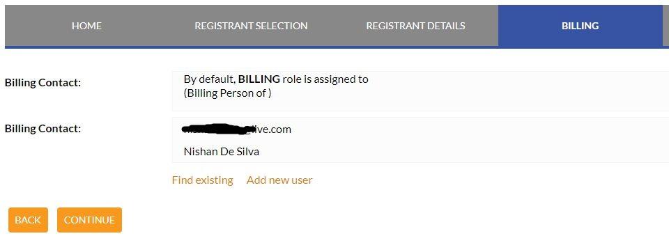 billing details