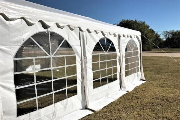 fancy party tent windows