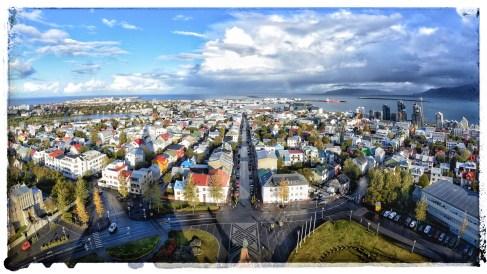 Reykjavik from Hallgrímskirkja tower