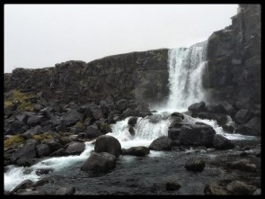 North America is leaking! Öxarárfoss at the North American continental plate
