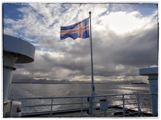 National flag on the Ferry Baldur