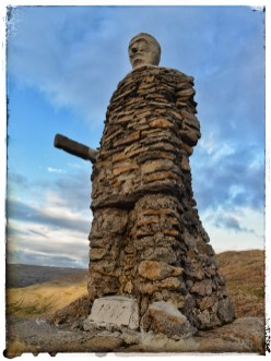 There are two stone men on the heaths of the West Fjords, Karlinn and Kleifabúi. They were made by road construction workers in their spare time. Kleifabúi was made by the road construction group of Kristleifur Jónsson in 1947.