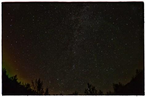 Night sky at Giljalandi