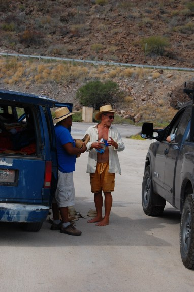 Dennis, haggling over a new hat