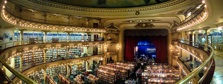 El Ateneo Bookstore, Brazil. Photo by
