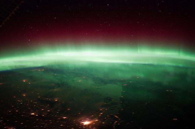 Aurora Borealis over Canada - Image by NASA