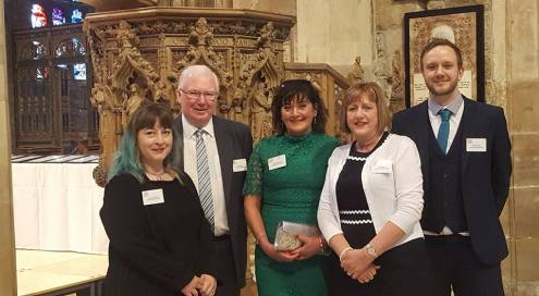 Doncaster Book Awards team at the Duke of York awards