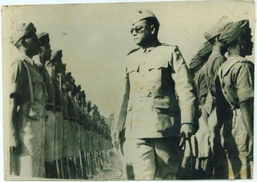 Netaji with Azad Hind Fauj
