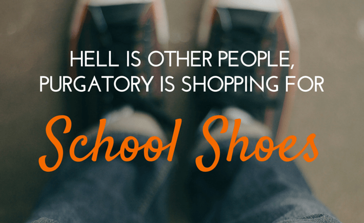 shopping for school shoes
