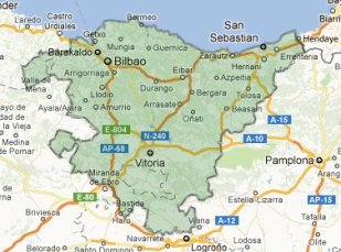 Map of Basque Spain by onfootinspain.com