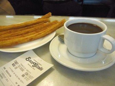 Churros with warm dipping chocolate