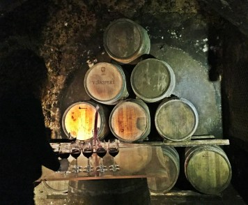 Tasting room in Vinasperi Cave