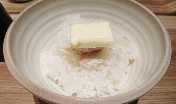 銀座 篝 ルクア大阪店のバターごはん