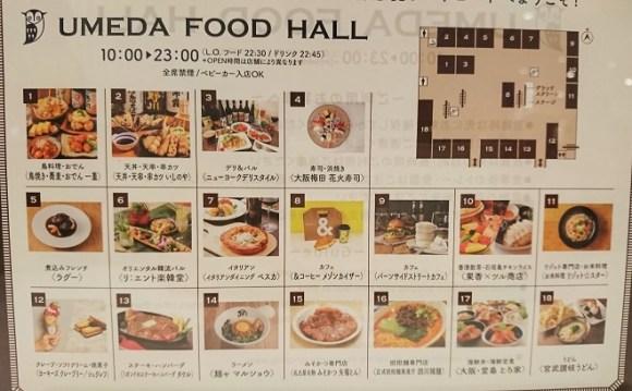 UMEDA FOOD HALLのマップ
