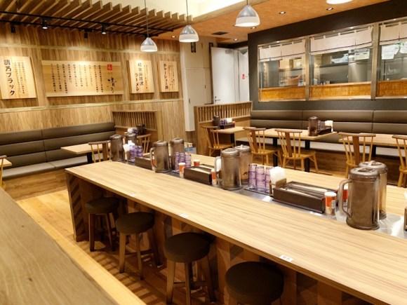 和dining清乃なんばラーメン一座店の店内