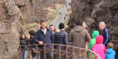 Die Schlucht bei Thingvellir in Island