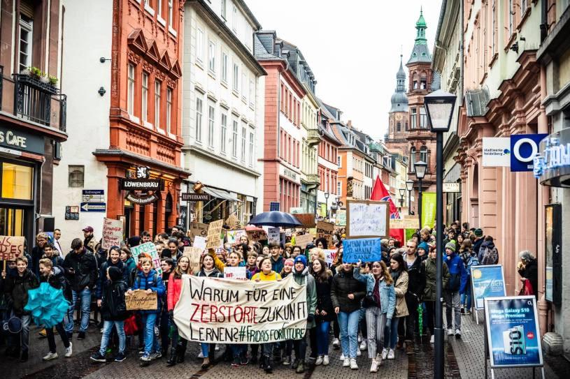 Hier ist ein Bild von den Protesten in Heidelberg zu sehen. Getwittert hatte dieses Bild @Stefan_SF