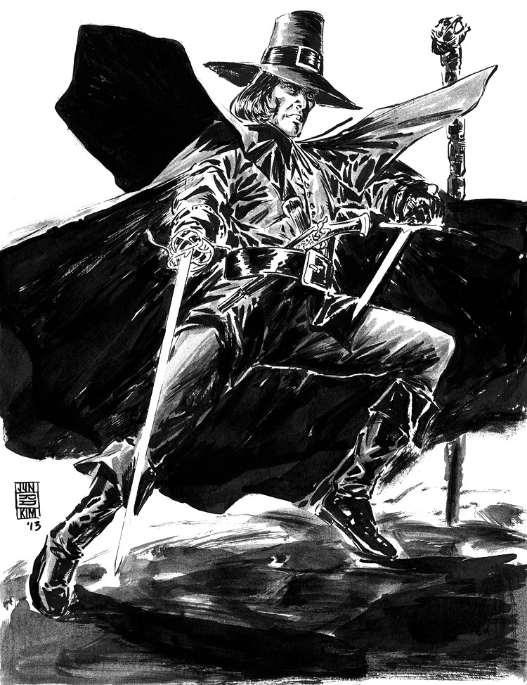 Solomon Kane - Pulp Sketch by Jun Bob Kim