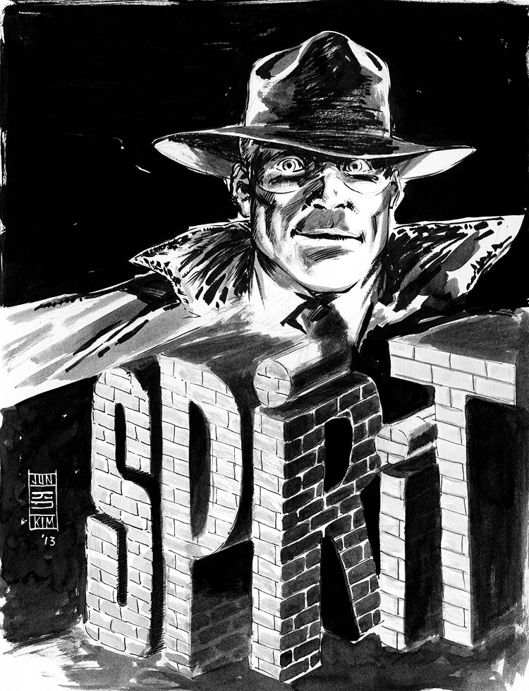 The Spirit - Pulp Sketch by Jun Bob Kim