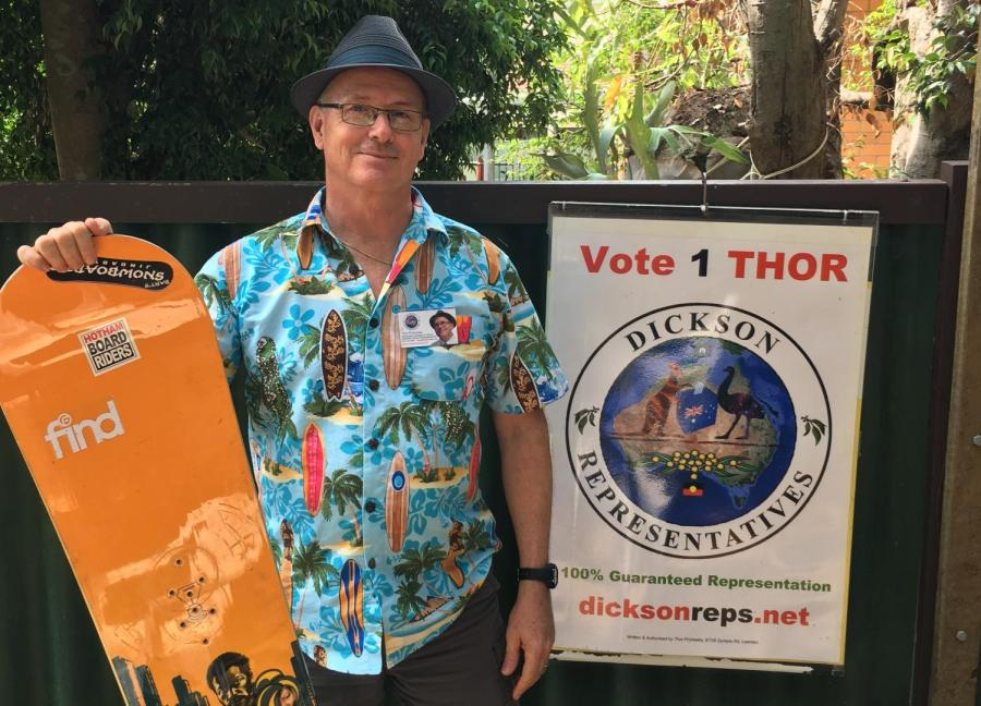 Thor Prohaska, an Independent candidate in Dickson