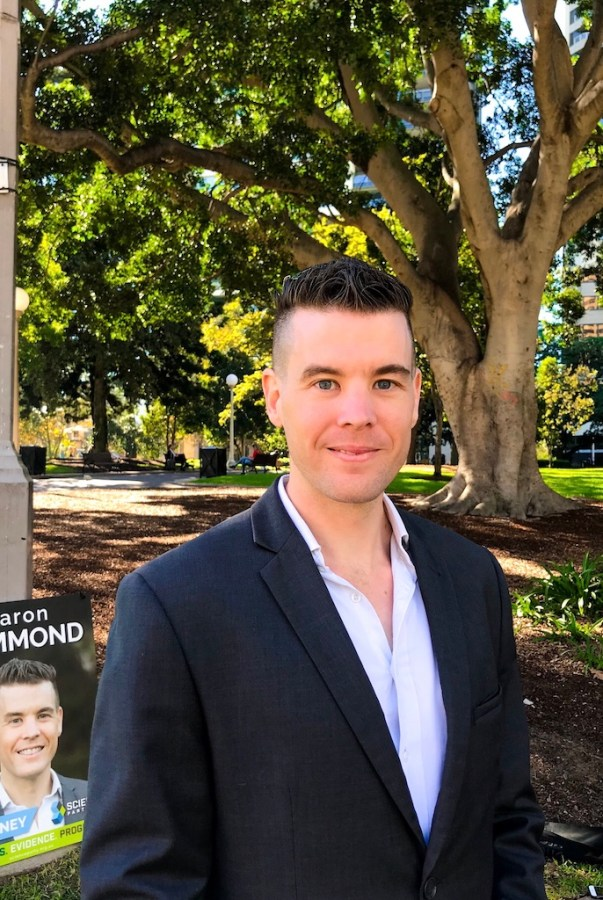 Science Party candidate for Sydney Aaron Hammond. Photo: supplied