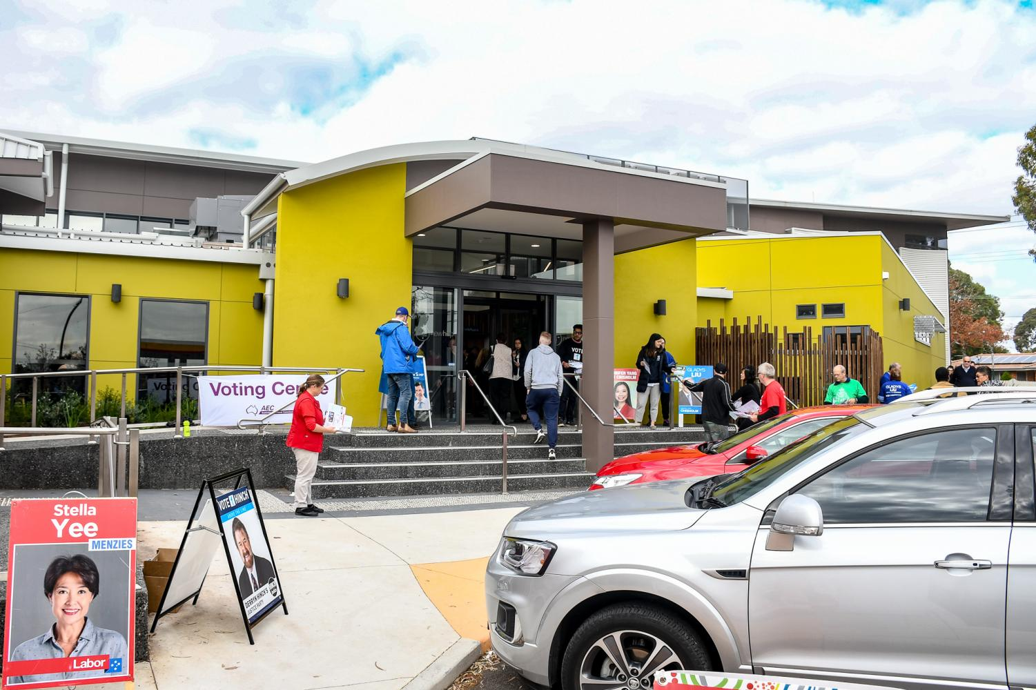 The early voting centre at New Hope Community Centre in Blackburn North