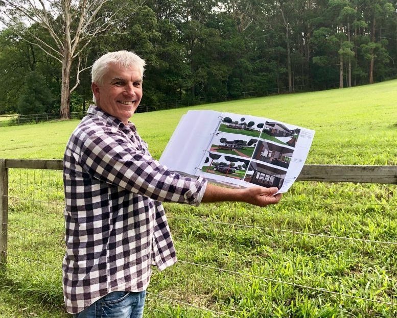 EndED Co-founder Mark Forbes at his Mooloolah Valley property where Australia's first residential eating disorder facility will be built.