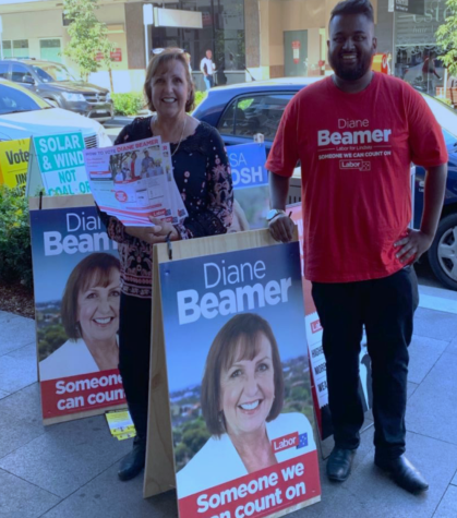 Labor candidate Diane Beamer campaigns in Penrith