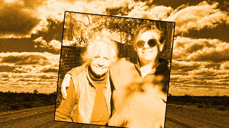 Media pioneer ... Freda Glynn, left, with her filmmaker daughter Erica.