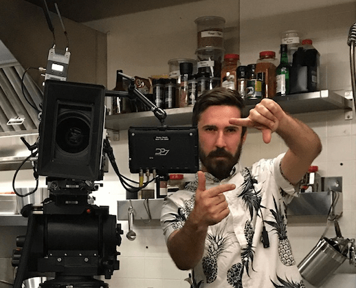 Australian Chris Crawford has worked on both television and movie sets, in the props department and as a training assistant director. Photo: Courtesy Chris Crawford