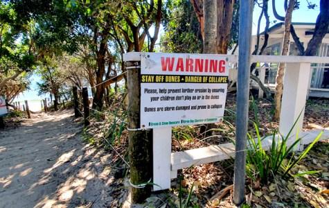 Coastal erosion damages Byron beaches