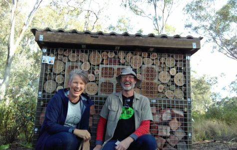 Gardening Australia's Sophie Thomson, with horticulturist Mark Hannan. Photo by Linda Lacey