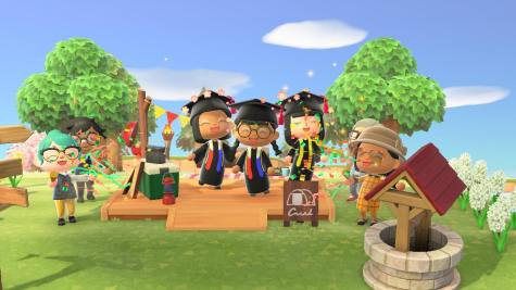 Rikki was inspired to have a graduation for her friend after seeing other events being held in-game in response to coronavirus cancellations. Screenshot by Rikki Ocampos