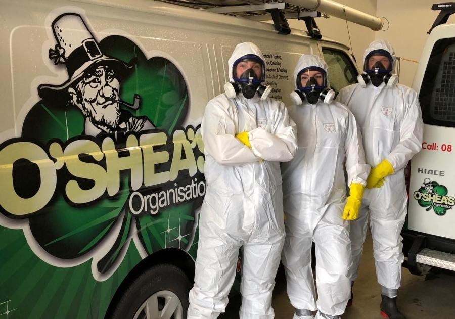 O'Shea's decontamination team are ready for the job.
