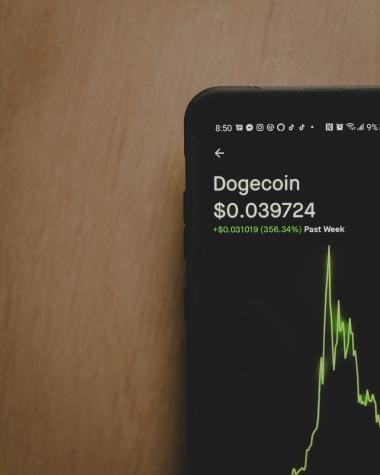 Cyptocurrency Dogecoin hits new high in record breaking rise. Photo by Clay Banks on Unsplash
