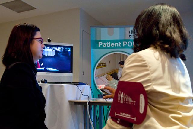 A tele-health demonstration. Photo: Cisco Australia-NewZealand on Flickr (CC BY 2.0)
