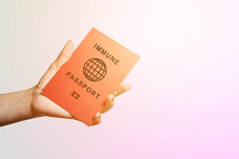 vaccine passport mockup