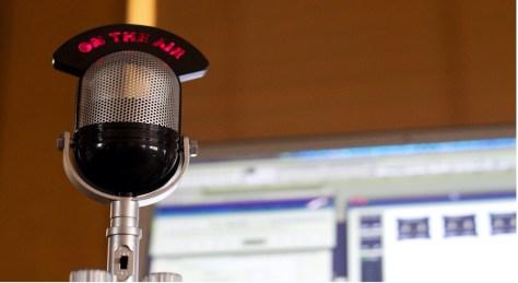 microphone in a studio
