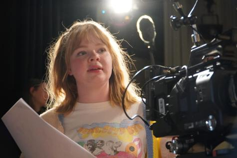 Christie Hammond on the set of Not So Great Expectations.
